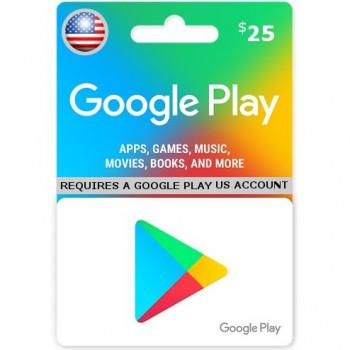 گوگل پلی 25 دلاری