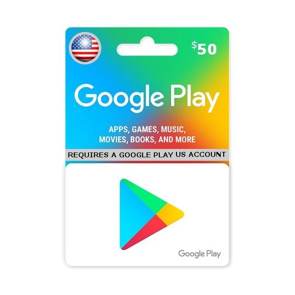 گوگل پلی 50دلاری