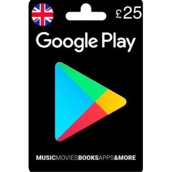 گوگل پلی25پوندی انگلیس
