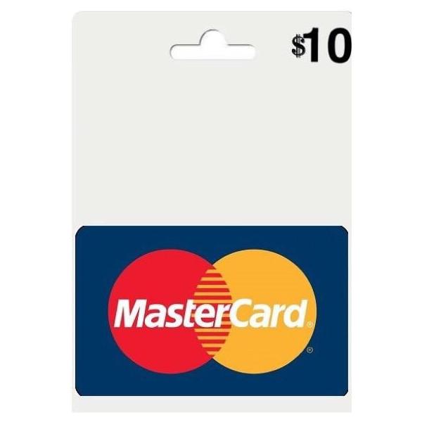 مسترکارت مجازی 10 دلاری