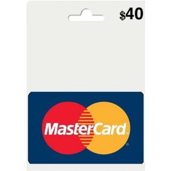مسترکارت مجازی 40 دلاری